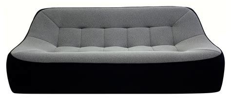 canape dunlopillo canapé droit tchubby by ora ito xl l 200cm noir gris