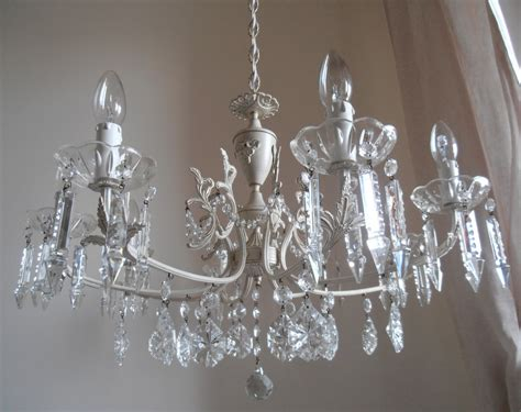 shabby chic chandelier shabby chic chandelier 8 arms crystal chandelier cream