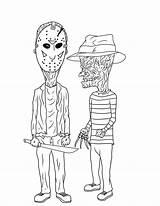 Beavis Freddy Krueger Butt Head Horror Jason Butthead Voorhees Scary Coloring Drawings Cartoon Tattoo Colorear Frostdusk Imagenes Drawing Icons Deviantart sketch template