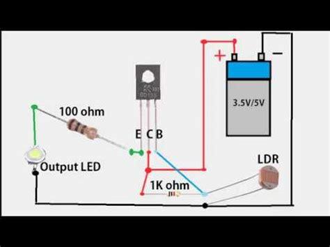 emergency led light circuit using ldr automatic led emergency light circuit youtube