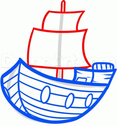 How To Draw A Big Boat Step By Step by Draw A Ship For Step By Step Drawing Sheets Added
