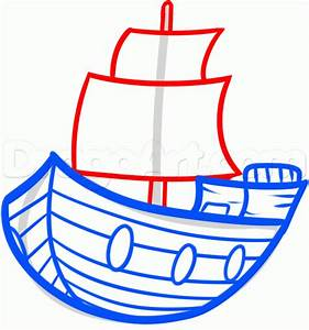 Draw a Ship For Kids, Step by Step, Drawing Sheets, Added ...