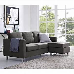 dorel small spaces 2 piece configurable gray sectional With 2 piece grey sectional sofa