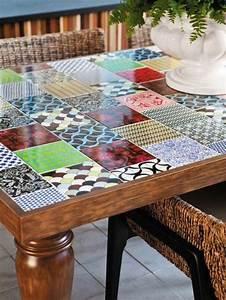 Mosaik Selber Fliesen Auf Altem Tisch : 1001 ideen wie sie alte m bel aufpeppen k nnen diy ~ Watch28wear.com Haus und Dekorationen