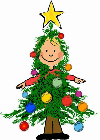 Christmas Clipart Party Clip Tree Boy Kid