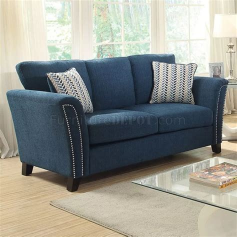 Teal Loveseat by Cbell Sofa Cm6095tl In Teal Fabric W Options