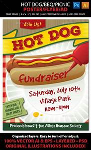 Cancer Fundraiser Flyer Template Dog Bbq Picnic Event Poster Flyer Or Ad