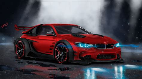 Bmw Supercar Concept Art 4k Wallpapers