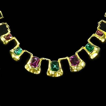 Egyptian Necklace Collar Revival Jeweled Jewelry Costume