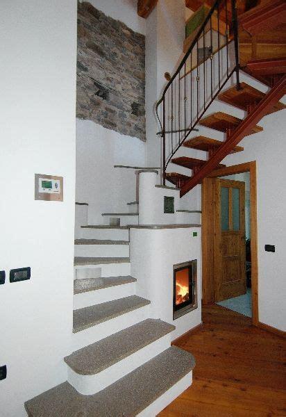 staircase   fireplace masonry stove