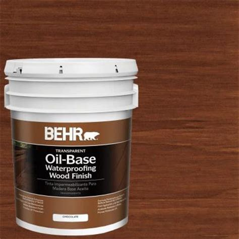 behr  gal  chocolate transparent oil based exterior