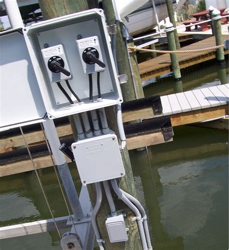 Boat Lift Electrocution by Florida Boat Dock Electrical Wiring Power And Lighting