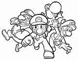 Mario Coloring Pages Luigi Print Kart Colouring Characters Super Character Bros Enemy Hard Brothers Printable Sheet Yoshi Nintendo Fargelegging sketch template
