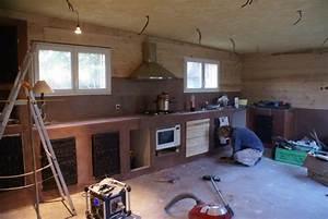 auto construction bois mise en place de l39evier et de la With exceptional plan de travail maison 0 le plan de travail avec levier et la plaque de cuisson