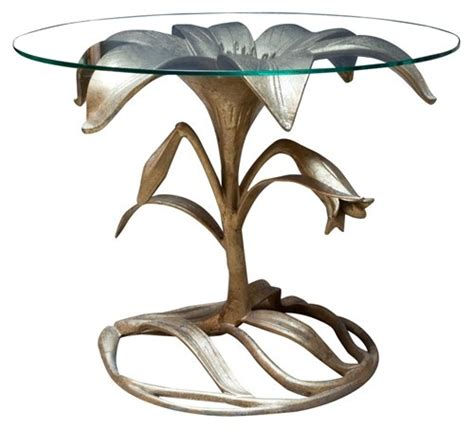 Fairytale Finish Georgian Home by Brass Flower Side Table Arthur Court Sculptural Table