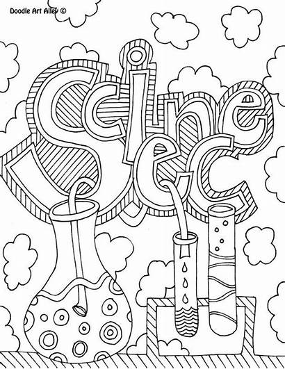 Science Garde Coloring Notebook Covers Cahier Sciences