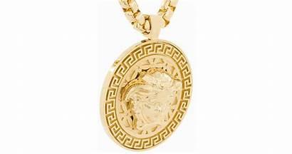 Medusa Versace Medallion Necklace
