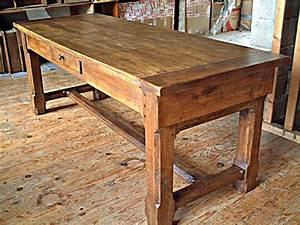 Table Chene Massif Rustique : table de ferme ancienne en chene massif table de lit ~ Teatrodelosmanantiales.com Idées de Décoration