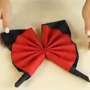 Pliage De Serviette Papillon : pliage de serviette en papillon tuto vid o ~ Melissatoandfro.com Idées de Décoration