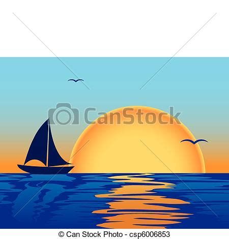 Sea sunset with boat silhouette. Sea sunset with boat and ...