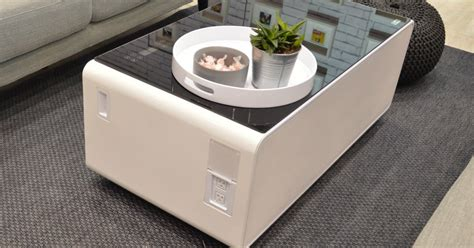 Sobro Coffee Table Has A Refrigerated Drawer And Other