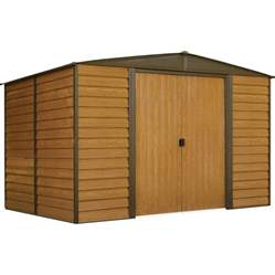 Arrow Galvanized Steel Storage Shed Assembly by Shop Arrow Woodridge Galvanized Steel Storage Shed Common