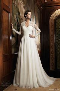 raimon bundo 2014 wedding dresses wedding inspirasi With long sleeve v neck wedding dress