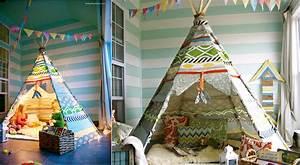 Fabriquer Tipi Enfant : comment fabriquer un tipi facilement pour les enfants bricolage diy kids room et baby kids ~ Voncanada.com Idées de Décoration