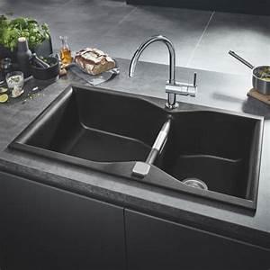 Einbauspüle Granit Günstig : grohe k700 einbausp le granit schwarz 31658ap0 reuter ~ A.2002-acura-tl-radio.info Haus und Dekorationen