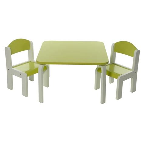 chaises enfants ensemble table et chaises enfant vert en bois fabio momo