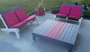 Fabrication Avec Palette : salon de jardin en palette fabrication ~ Preciouscoupons.com Idées de Décoration