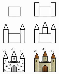 Drawing a cartoon castle