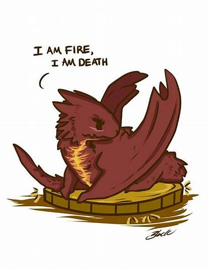 Smaug Hobbit Chibi Death Fire Dragon Fanart