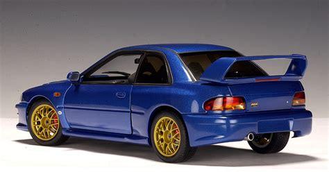subaru autoart autoart subaru impreza 22b rhd metallic blue 78601