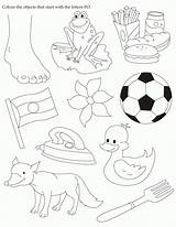 Objects Worksheet Worksheets Coloring English Activity Start Colour Template Coloringhome sketch template