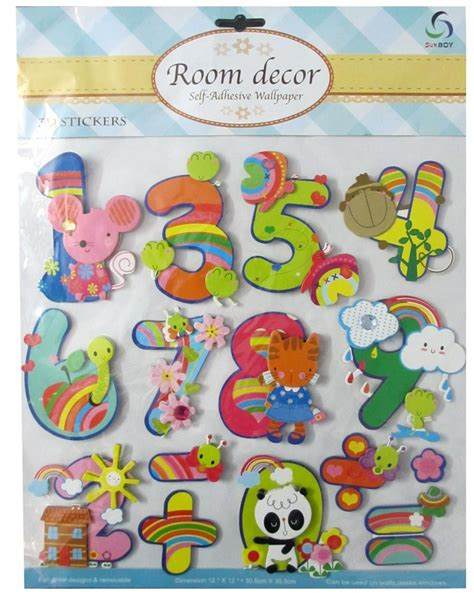 Buy 3d wall panel, wall decoration, 3d wall decor from emoderndecor.com. 3D Cute Animals And Numbers Wall Decor Type-2 - DholDhamaka.com
