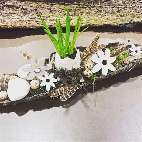 Frühlingsdeko Selbst Gemacht by Fr 252 Hlingsdeko Selbst Gemacht Holzrinde Mit Moos Bef 252 Llen