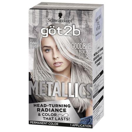 gotb metallic permanent hair color metallic silver