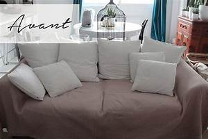 Changer Tissu Canapé : comment relooker facilement son canap ~ Nature-et-papiers.com Idées de Décoration