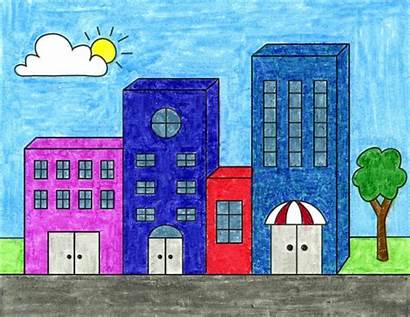 Draw Easy Buildings Projects Drawings Drawing Shapes
