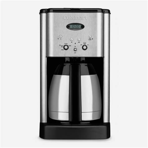 Follow the instructions in your. Brew Central Thermal 10-Cup Programmable Coffeemaker - ca-cuisinart