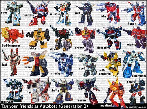 Transformers All Autobots Names