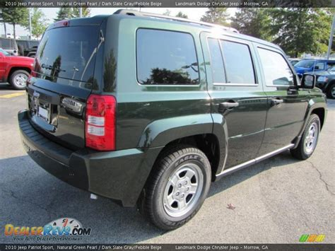 dark green jeep patriot 2010 jeep patriot sport natural green pearl dark slate