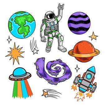 Astronauta waving hand in space sopra terra sfondo ...