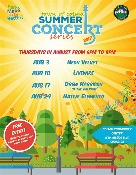 Summer Concert Series  Town Of Colma