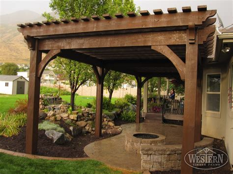 backyard pergola 55 best backyard retreats with fire pits chimineas fire pots fire bowls western timber frame