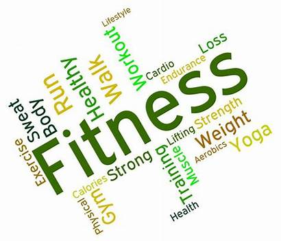 Physical Fitness Exercise Words Activity Clipart Means