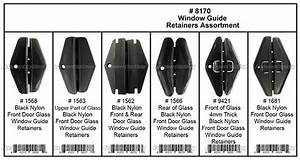42 Clips Front  Rear Of Glass Door Window Guide Retainer