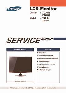 Samsung T240hd  T260hd Chassis Ltd24ns  Ltd26ns  Service