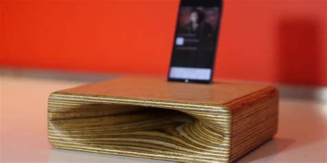 wooden speaker   phone